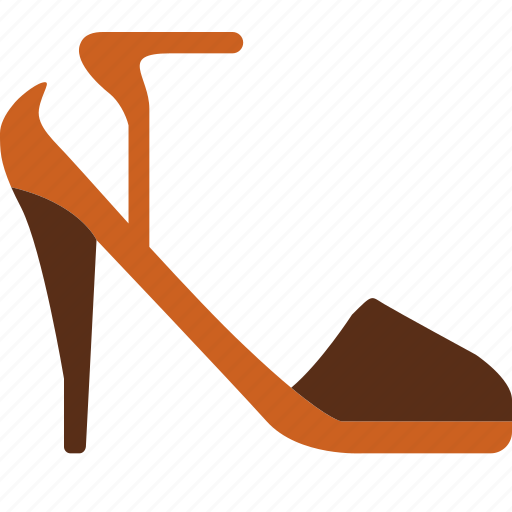 heels, ladies, sandal, strap, with, women icon