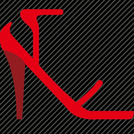 footwear, heels, ladies, sandal, strap, unclosed, with, women icon