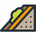 food, healthy, meal, sandwich, slice, vegetable icon