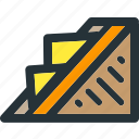 burger, cheese, fast, food, grill, meal, toast icon