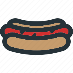 bread, cooking, fast, food, hotdog, meal, restaurant icon