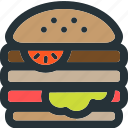 burger, cheese, cooking, dabel, fast, food, restaurant icon