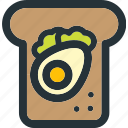 breakfast, egg, food, healthy, sandwich, veg, vegetable icon