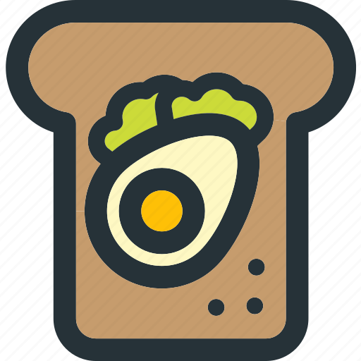 breakfast, egg, food, healthy, sandwich, veg, vegetable icon