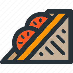 bread, food, grill, meal, sandwich, slice, toast icon