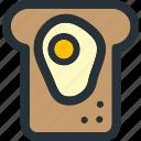 egg, sandwich, bakery, bread, breakfast, food, toast