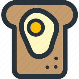 bakery, bread, breakfast, egg, food, sandwich, toast icon