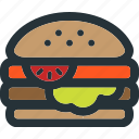hamburger, food, burger, meal, fast, restaurant