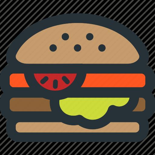burger, fast, food, hamburger, meal, restaurant icon