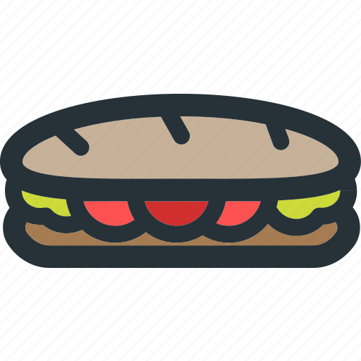 food, healthy, meal, restaurant, sandwich, vegetable icon