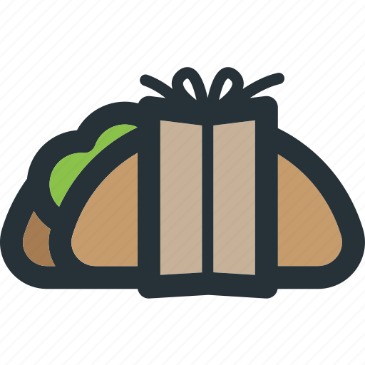 food, meal, mexican, restaurant, vegetable, wrapped icon