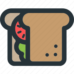 bread, cooking, food, restaurant, sandwich, toast, vegetable icon