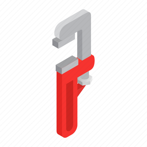equipment, isometric, metal, repair, tool, work, wrench icon