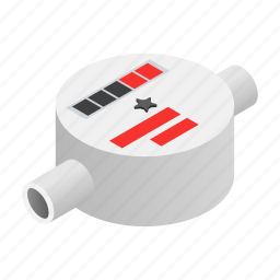 consumption, flow, gauge, isometric, scale, water, white icon