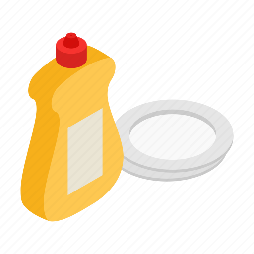 bottle, clean, detergent, liquid, plate, soap, washing icon