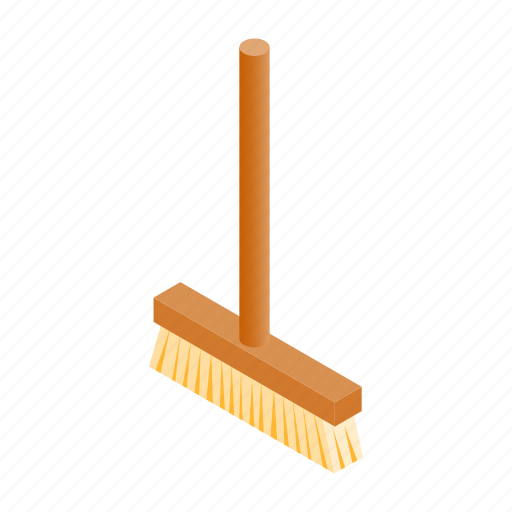 equipment, handle, housework, isometric, mop, swab, wet icon