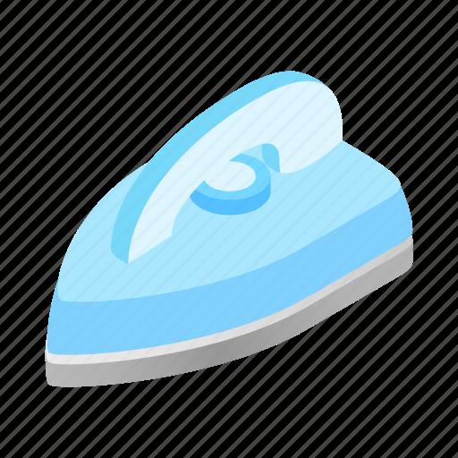 Appliance, drag, flat-iron, flatiron, iron, isometric, smoothing-iron icon - Download on Iconfinder