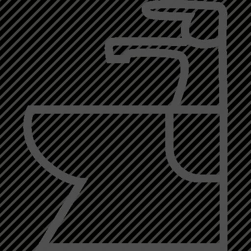bathroom, bidet, crane, sanitary engineering, tap icon