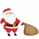 cartoon, claus, santa icon