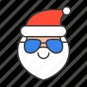 avartar, emoji, glasses, santa, santa claus, smile icon