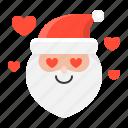 avartar, emoji, love, santa, santa claus icon