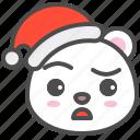 arctic, avatar, bear, christmas, cute, doubt, polar