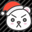 arctic, avatar, bear, christmas, cute, polar, serious icon