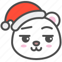 arctic, avatar, bear, christmas, cute, polar, smirk
