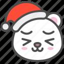 arctic, avatar, bear, christmas, cute, happy, polar