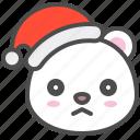 arctic, avatar, bear, christmas, cute, polar, sad icon