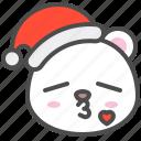 arctic, avatar, bear, christmas, cute, kiss, polar