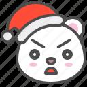 arctic, avatar, bear, christmas, cute, polar, serious