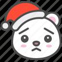 arctic, avatar, bear, christmas, cute, polar, worried