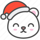 arctic, avatar, bear, christmas, cute, hat, polar icon