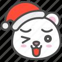 arctic, avatar, bear, christmas, cute, polar, smile