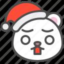 arctic, avatar, bear, christmas, cute, polar, shocked