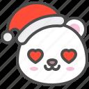 arctic, avatar, bear, christmas, cute, love, polar icon