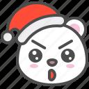 arctic, avatar, bear, christmas, cute, glad, polar
