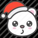 arctic, avatar, bear, christmas, cute, polar, whistling