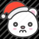 arctic, avatar, bear, christmas, cute, polar, sad