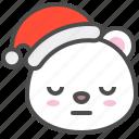 arctic, avatar, bear, bored, christmas, cute, polar icon