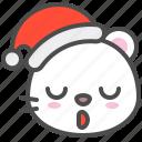 arctic, avatar, bear, christmas, cute, polar, sleepy