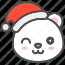 arctic, avatar, bear, christmas, cute, hat, polar