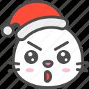animal, avatar, christmas, emoji, hat, seal, serious