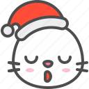 animal, avatar, christmas, emoji, hat, seal