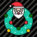 celebration, christmas, decoration, ornament, wreath, xmas icon