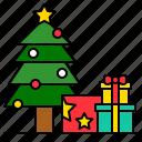 christmas, gift, gift box, pine, present, winter, xmas