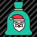 bag, christmas, gift, santa, xmas