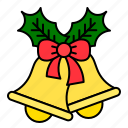 bells, christmas, decoration, ornament, xmas icon