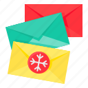 card, christmas, letter, mail, xmas icon